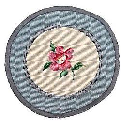 Салфетка под тарелку на стол гобеленовая Цветок круг 10 см ROUND386GR