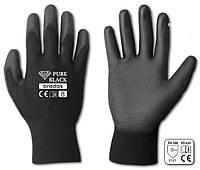 Перчатки рабочие PURE BLACK полиуретан, размер 11
