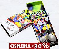Набор Детских Столовых Приборов (ложка+вилка)  Микки Маус