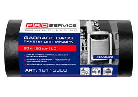 PRO Пакет для сміття п/е 60*80 чорн ЛД 60л/20шт.(25шт/ящ)