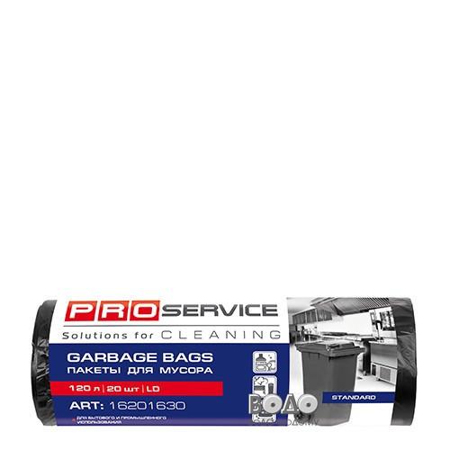 PRO Пакет для смiття п/е 70*109 чорн.ЛД 120л/20шт. (15шт/ящ)