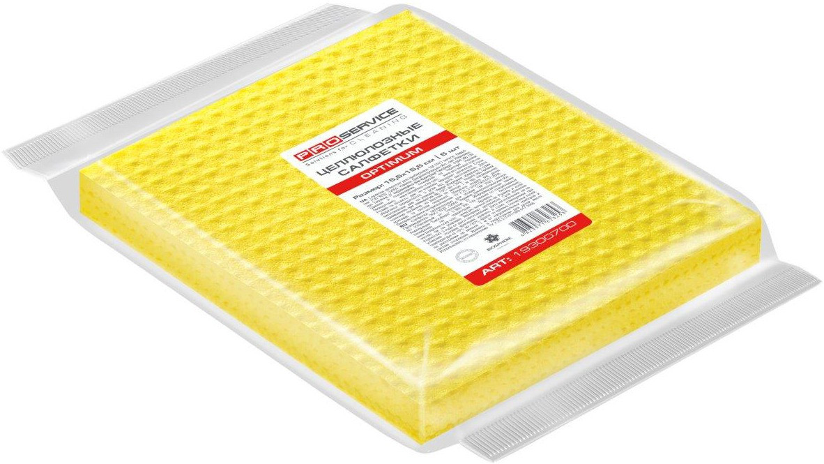 PRO Серветки для прибирання вологопоглинаючі целюлозні 15,5х15,5см 5 шт/уп OPTIMUM (40 шт/ящ)