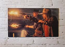 """Картина на дереве - Постер """"Red Dead Redemption 2"""" 35 х 20 см"""