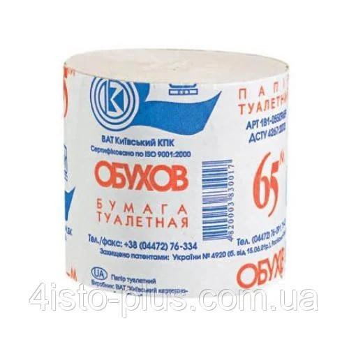 """Бумага туалетна макулатурна ТМ """"Обухов""""без гільзи,48шт/уп."""