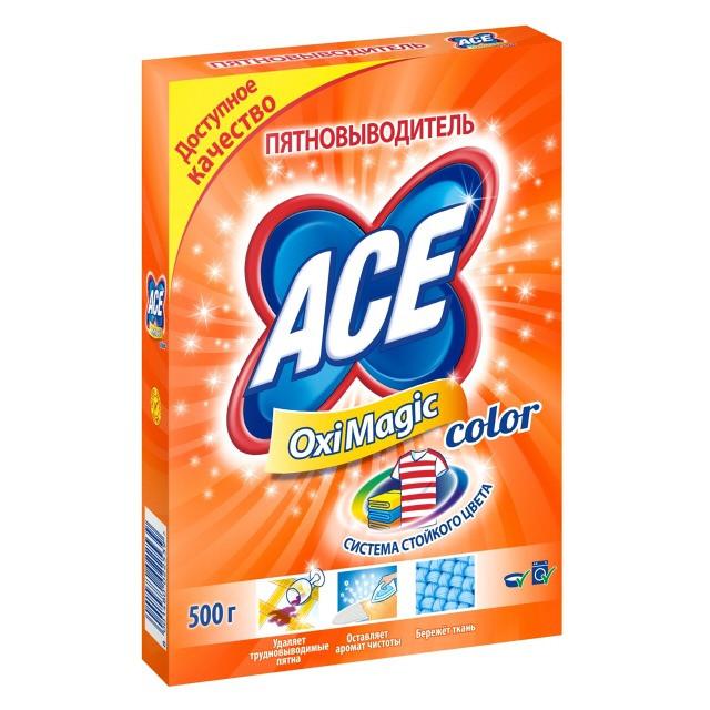 """Пятновыводитель кислородный"""" АСЕ"""" 500 г сухой  для цветного"""
