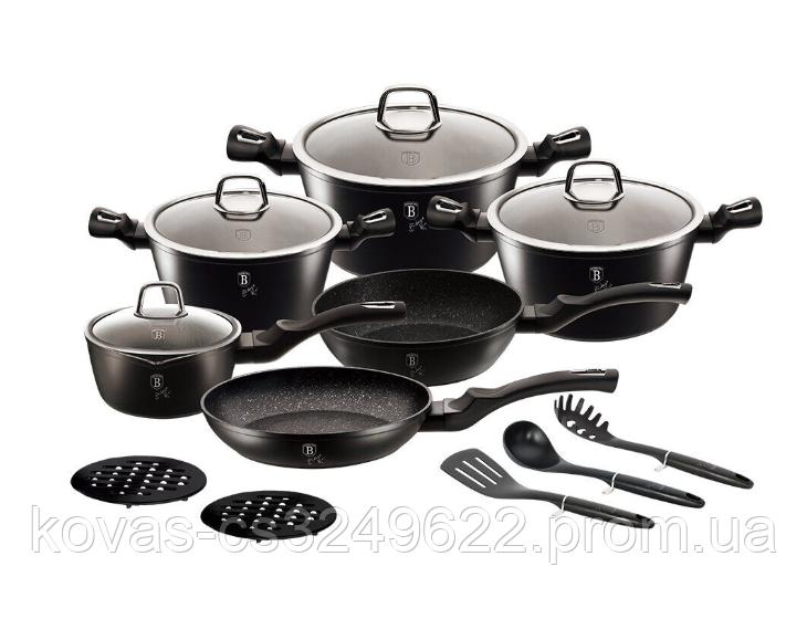 Набор посуды Berlinger Haus черного цвета - 15 предметов