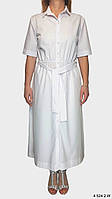 Платье-рубашка. Платье повседневное. Цвета: белый, черный. Женское платье. Повседневное платье. Жиночи плаття