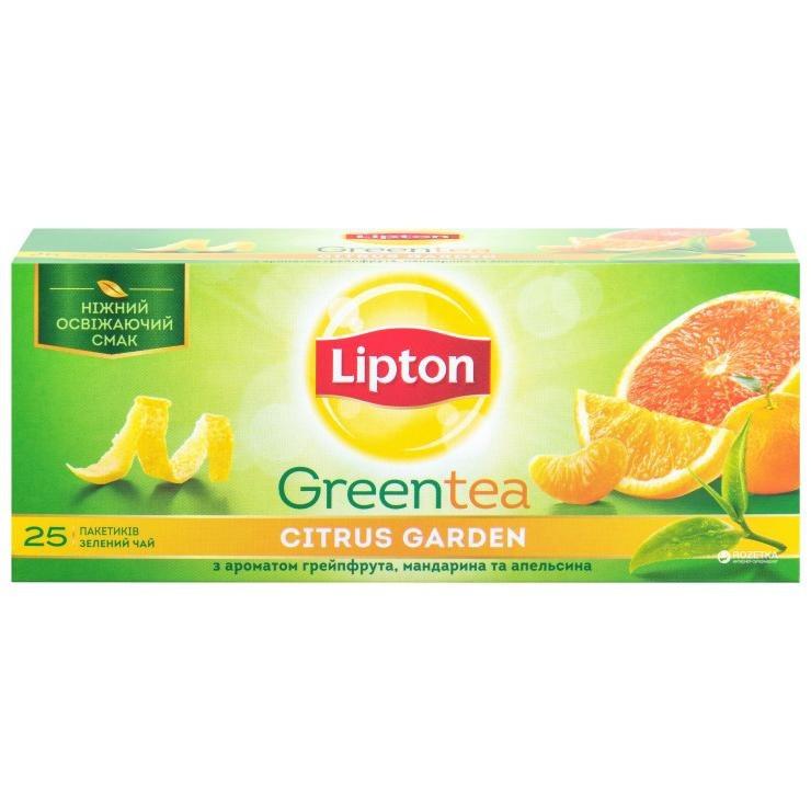 (32714095)Lipton 25 пак.(зеленый цитрус) Green Citrus Garden