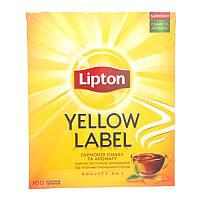 (32719111)Lipton чай 100 пакетів (чорний) Yellow Label