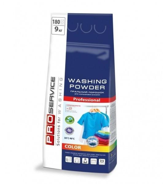PRO Порошок пральний безфосфатний автомат Color  (гірська свіжість), 9 кг (1 шт/ящ)