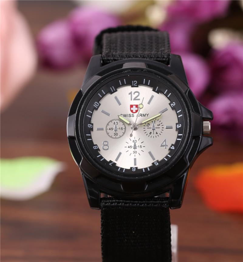 Мужские часы Swiss Army black-silver