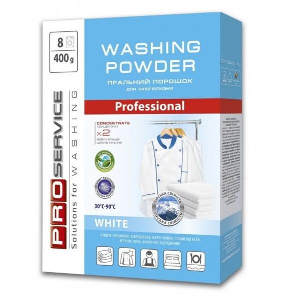 PRO Порошок пральний безфосфатний автомат White  (гірська свіжість), 400 г (20 шт/ящ)