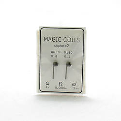 Комплект спиралей Magic Coils Fused Clapton №24 2 шт 0.08 Ом
