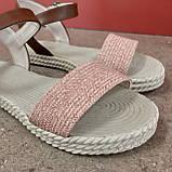 Босоніжки жіночі пудра, фото 4