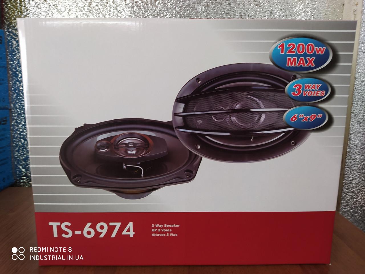 Автоколонки TS-6974 овальные 1200 Вт