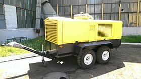 Фото компрессора дизельного передвижного ВВП 15/10, производительность: 15 м куб/мин., давление рабочее: 1,0 МПа., давление максимальное: 1,5 МПа