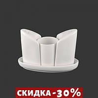 Набор Для Специй Соль/Перец+Зубочистки (Extra White)(0267)