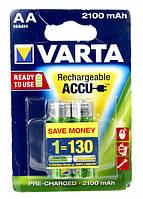 Аккумуляторные батарейки АА VARTA 2100 MAh
