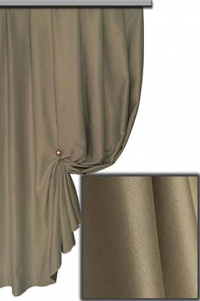 Ткань Блэкаут Однотонный темно-серый №Д 32, фото 2