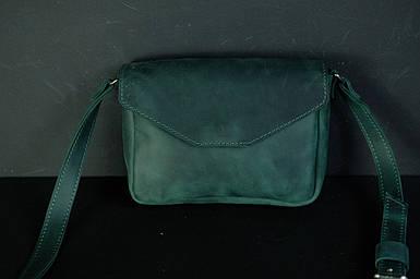 Сумка женская. Кожаная сумочка Лилу, Винтажная кожа, цвет Зеленый