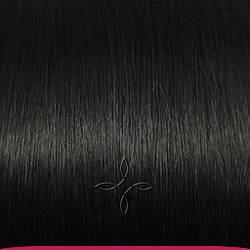 Натуральные Азиатские Волосы на Заколках 38 см 70 грамм, Черный №1B