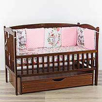 Бортики подушки сплячі бегемотики з рожевим плюшем минки