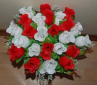 "Розница 169 Букет роз ""Диана  микс"" 24 головы  40х8 см"