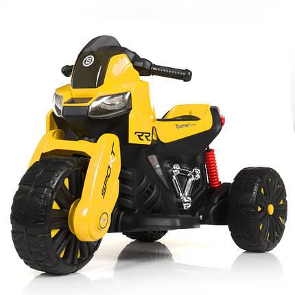 Електромотоцикл дитячий BMW Bambi M 4193EL-6 2 мотора 25W жовтий, фото 2