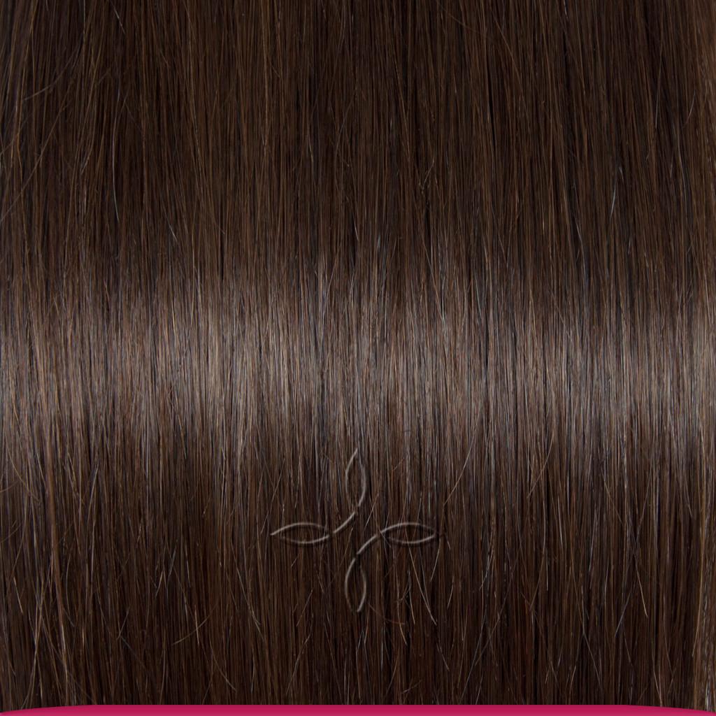 Натуральные Азиатские Волосы на Заколках 38 см 70 грамм, Шоколад №02