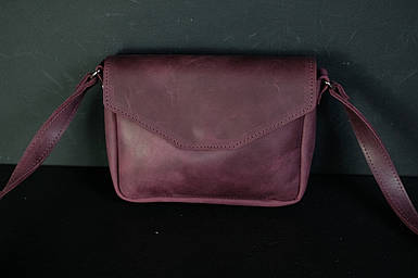 Сумка женская. Кожаная сумочка Лилу, Винтажная кожа, цвет Бордо