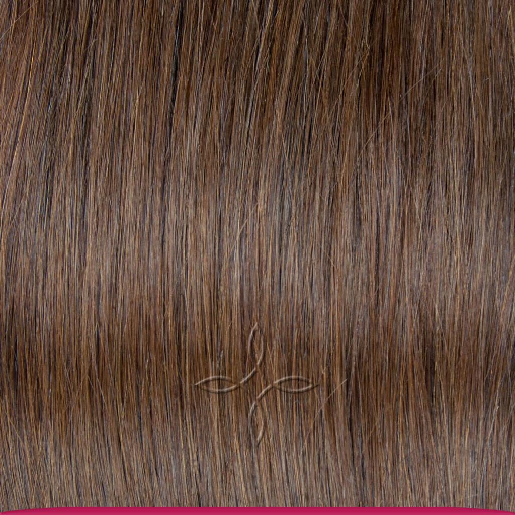 Натуральные Азиатские Волосы на Заколках 38 см 70 грамм, Шоколад №04