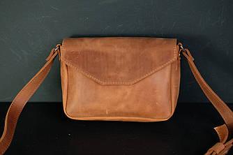 Сумка женская. Кожаная сумочка Лилу, Винтажная кожа, цвет Коньяк