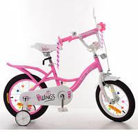 Дитячий велосипед 12Д Profi Angel Wings SY12191 рожевий