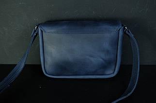 Сумка женская. Кожаная сумочка Лилу, Винтажная кожа, цвет Синий, фото 2