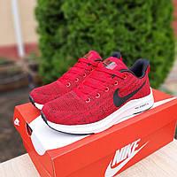 Красные женские кроссовки в стиле Nike Air Max Zoom текстильные легкие летние найки