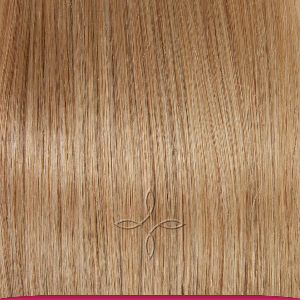 Натуральные Азиатские Волосы на Заколках 38 см 70 грамм, Светло-Русый №16