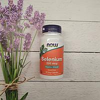 Now Foods Selenium 90 veg caps 200 mcg, селен Нау фудс