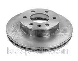 Передний тормозной диск на MB Sprinter 906, VW Crafter 2006→ — Meyle (Германия) — 0155212101