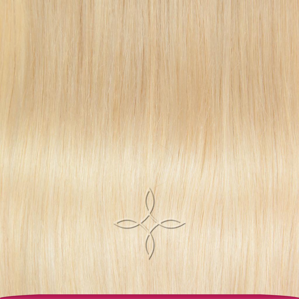 Натуральные Азиатские Волосы на Заколках 38 см 70 грамм, Блонд №613