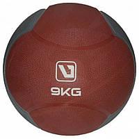 Медбол LiveUp MEDICINE BALL, гума, 9кг, червоний (LS3006F-9)