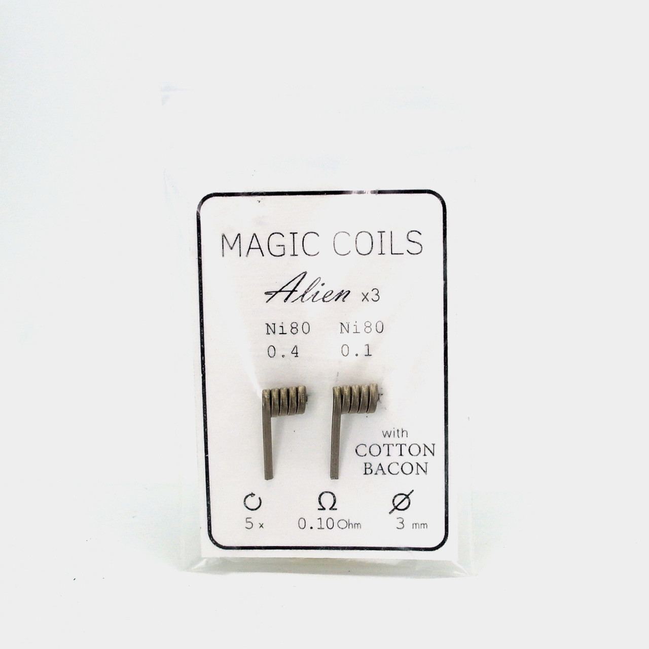 Комплект спиралей Magic Coils Alien №44 2 шт 0.10 Ом