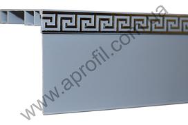 """Карниз для штор алюминиевый """"Модель 11""""с широким молдингом на две дорожки под евро крючок. Полимерная покраска"""