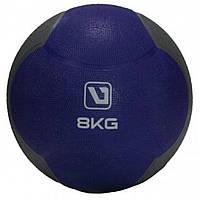 Медбол LiveUp MEDICINE BALL, гума, 8кг, синій (LS3006F-8)
