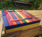 Дерев'яна пісочниця з лавочками для дітей Just Fun 120 х 120 см, фото 2