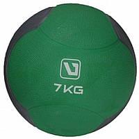 Медбол LiveUp MEDICINE BALL, гума, 7кг, зелений (LS3006F-7)