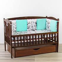 Бортики подушки сплячий оленя з бірюзовим плюшем минки