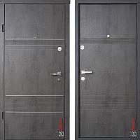 Дверь входная металлическая ZIMEN Launa, Optima, Sap, Бетон темный, 950х2050, правая