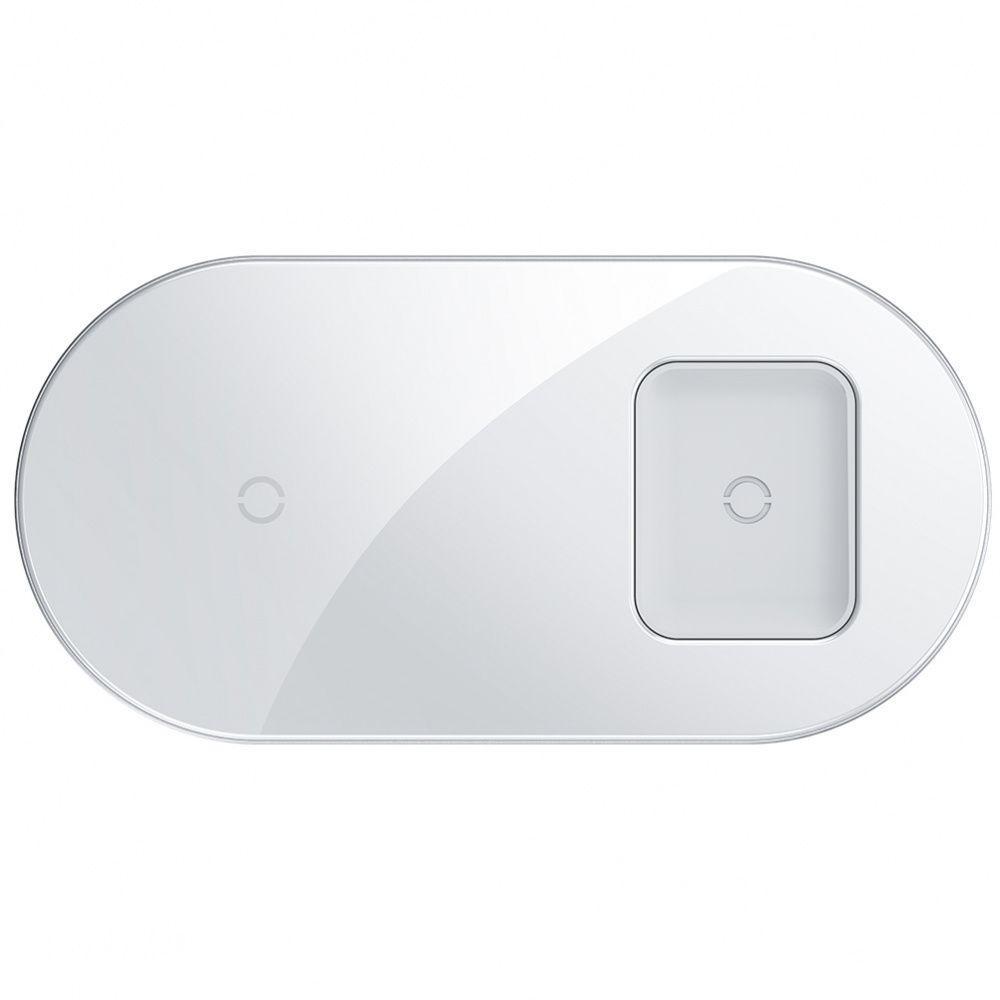 Беспроводное ЗУ Baseus Simple 2in1 18W white