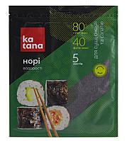 Норі водорості морські сушені Katana, 5 листів