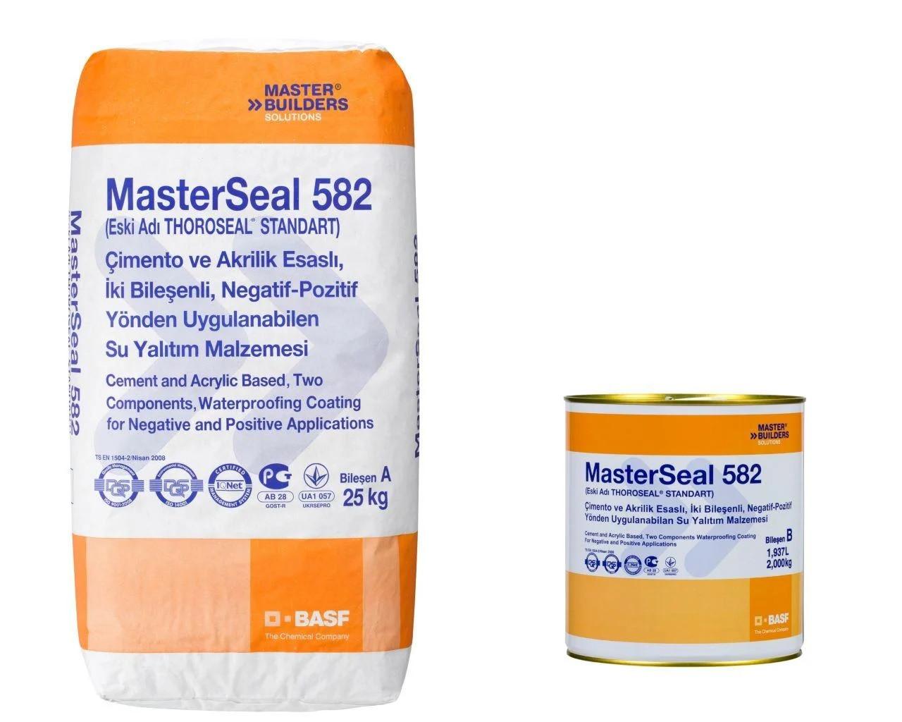 MasterSeal 582 цементно-акриловый гидроизоляционный состав (27кг)